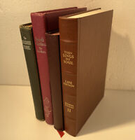 Vintage Leather Then Sings My Soul + Lot Of 3 Hymnals Church Hymns Gospel