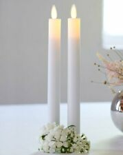 Sirius SARA Tall Wax LED CANDLE 25cm WHITE Set of 2 with Timer