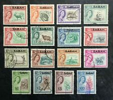 North Borneo - Sabah. 1964 set of 16 stamps 1c to $10 SG408-423 - FINE USED