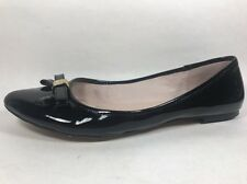 Vince Camuto Timba Black Patent Ballet Flats Womens Sz 10/40 Medium Leather Low