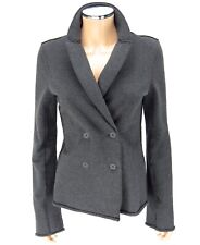 T ALEXANDER WANG Jacket Blazer SIZE SMALL Gray Casual Double Breasted Coat