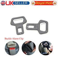 2X Universal Car Metal Safety Seat Belt Buckle Alarm Clip Stop Warning Opener
