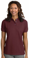 Port Authority Women's Shrink Resist Cotton Short Sleeve Polo Shirt. L420