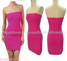 Hot Women Casual Club Party Tube Strapless Stretch Tight Slim Fit Mini Dress 2XL
