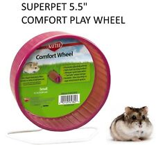 "SUPERPET KAYTEE SMALL 5.5"" DWARF HAMSTER COMFORT PLAY WHEEL CAGE EXERCISE 61382"