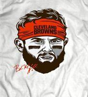 CLEVELAND #6 BAKER MAYFIELD ORANGE HEADBAND OLDSKOOL CUSTOM ART T-Shirt
