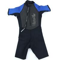 Hyper Flex Youth Spring Shorty 2.5 Wetsuit Kids Size 10 Black & Blue Surf Boys