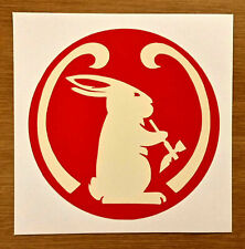"""Two (2) Mad River Canoe Smoking Bunny Legend Logo 3"""" Vinyl Decal Stickers"""