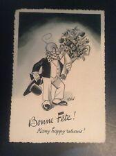 Rare ancienne carte postale Professeur Nimbus André Daix TRES BON ETAT