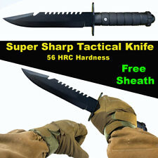Tactical Knife Straight Carbon steel Stainless Steel Survival Climbing Outdoor