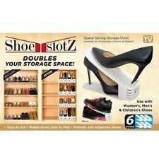 Shoe Slotz Space SavingStorage Organizer Rack Units in Ivory 6 Pack NEW !!!!