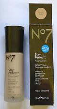 No7 Beautifully Matte Foundation Warm Ivory 30ml X 2