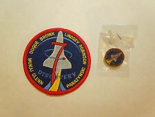 Lot of 2 NASA Space Shuttle Mission STS-95 Discovery Iron On Patch and Small Pin