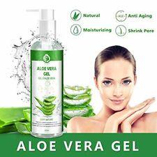 Gel d'Aloe Vera 100% Bio, Gel Hydratant Visage & Corps Cheveux Crème, Aloe Vera