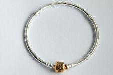 Original PANDORA Armband mit Pandoraverschluss 24K Gold Vergoldet 590702HV-20cm