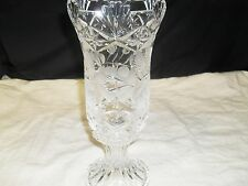 Gorgeous ~ Two Piece Crystal Vase/ Candle Holder ~ Frosted Rose Design