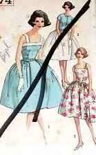 Vintage 60s Pattern Simplicity 3974  Summer Sleeveless Dress & Jacket Sz Jr 11