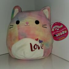 "Squishmallows 8"" Cindy the Cat ! plush kellytoy valentine's limited edition RARE"