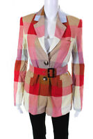Rachel Antonoff Womens Picnic Blanket Plaid Benjamin Blazer Multi Colored Size 2