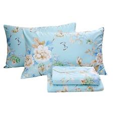 Fadfay Floral Bedding Shabby Blue Bird Print Bed Sheet Set Luxury Bedding