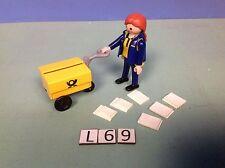 (L69) playmobil factrice et son chariot ref 4403 4400 4401
