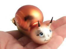 1 Czech glass hand decorated snail Christmas tree ornament decoration