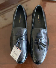 NWT Zara Man Black Leather Loafers Moccasins Diving Shoes 6