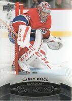 2015-16 Upper Deck Overtime Hockey #29 Carey Price Montreal Canadiens
