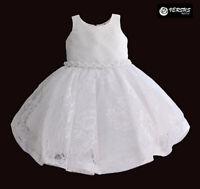 ABITO da BATTESIMO vestito da cerimonia bianco celeste PAGGETTO tg 4-6 mesi 1665