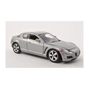 MOTORMAX 73323 Mazda RX-8 Metallic Grey Scale 1:24 Model Car New! °