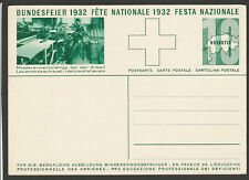 Switzerland 1932 Bundesfeier postcard unused (Schweiz ganzsachen)