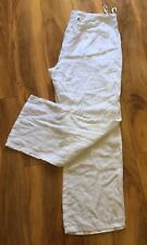 W LANE White Linen Pants Size 18