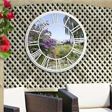 Round Garden Mirror By Suntime With Roman Numerals In Bronze or White