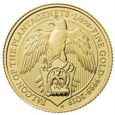 2019 U.K. 25 Pound 1/4 oz Gold Queen's Beast Falcon of the Plantagenets BU