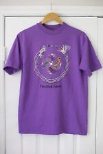 Vintage Hanes Beefy Tee T Shirt Size Medium Small Purple Petrified Forest 80s