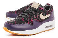 timeless design 40ab3 ecd55 WMNS Nike Air Max 1 PRM SZ 7 Premium Print Pattern Purple Dynasty 454746-500