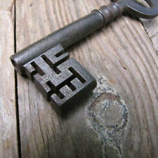 Antique Iron Strongbox Key Safe / Old