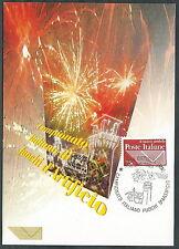1999 ITALIA CARTOLINA SPECIALE OSTIGLIA CAMPIONATI FUOCHI DI ARTIFICIO - ED