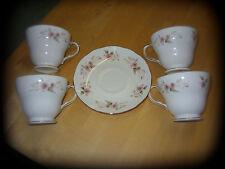 Duchess Bone China 4  Tea Cups And 1 Saucer Pink Rose Design