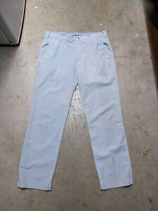 Adidas Men's 34x30 White Golf Pants Stretch Elastic Waist Polyester Athletic