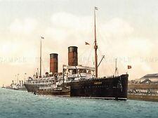 PHOTOGRAPH SHIP SAIL BOAT RMS CAMPANIA ART POSTER PRINT LV3563