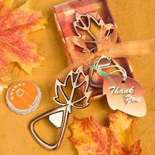 Autumn Fall Leaf Bottle Opener Wedding Bridal Shower Party Favors