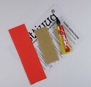 Opttiuuq Cricket Bat Repair Kit 1 Toe Guard Set Glue Fixing Guide -1- Orange