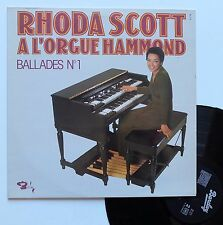 "LP Rhoda Scott   ""A l'orgue hammond - Ballades n°1"""