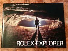 ROLEX booklet/libretto EXPLORER 16550-1016 CREAM/PANNA USA 6.1984