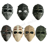 Tactical Military Spine Skull Skeleton Full Face Mask Halloween Costume