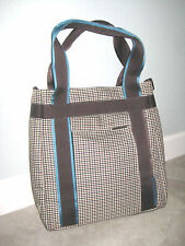 2db191ae3345 Puma Houndstooth Tote Shoulder Shopping Athletic Purse Bag Blue Gray Black