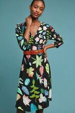 NWT SZ M Anthropologie Colario Wrap Dress by Bl-nk