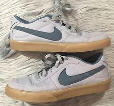 Nike Mavrk Low Casual Sneakers #434815-008 Gray Blue Canvas Men's US 8
