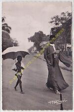 RPPC CPSM COTE D'IVOIRE le courrier est arrivé Homme Enfant Edit ca1954
